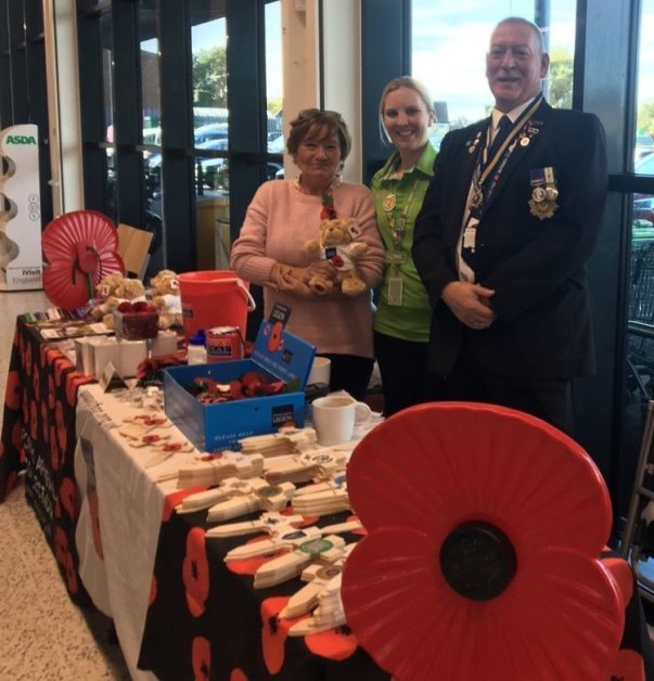 Poppy Appeal at Asda Clacton