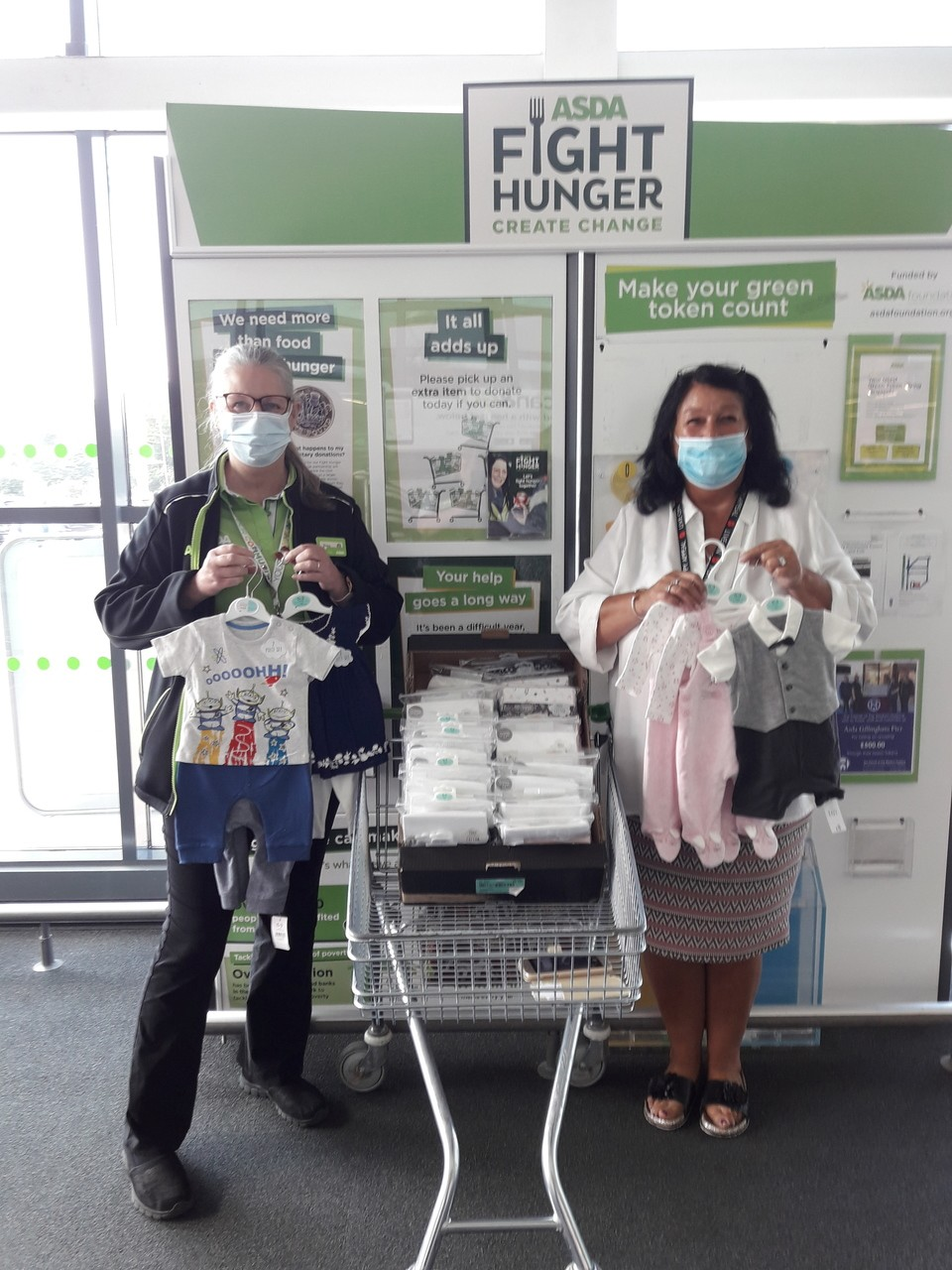 Donation to Oliver Fisher Special Care Baby Trust | Asda Gillingham Pier