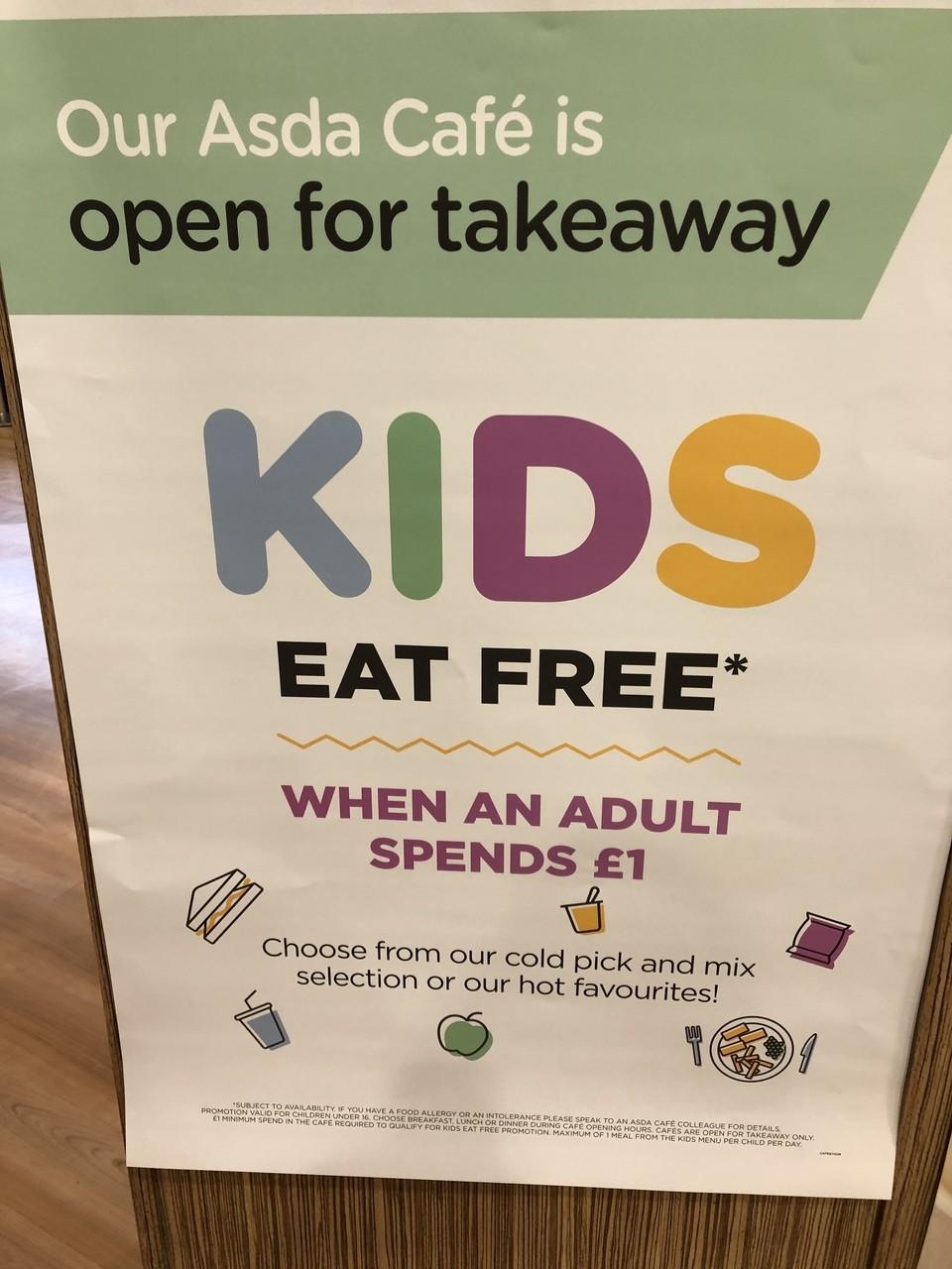 Kids eat free at Asda | Asda Nottingham West Bridgford