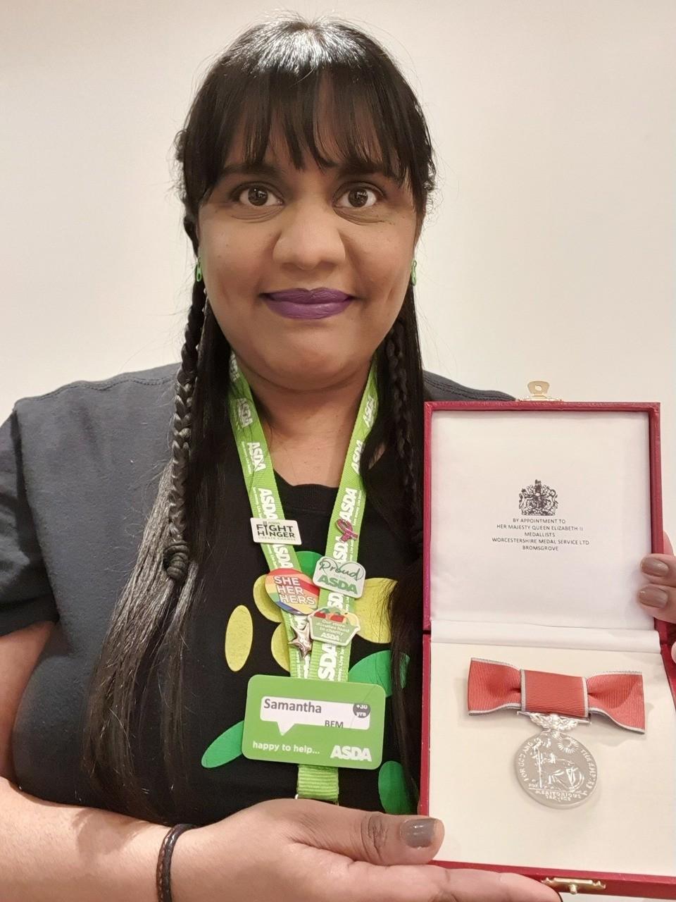 BEM award arrives for community champion Sam | Asda Hayes