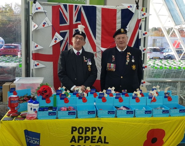 Poppy Appeal at Asda Newport