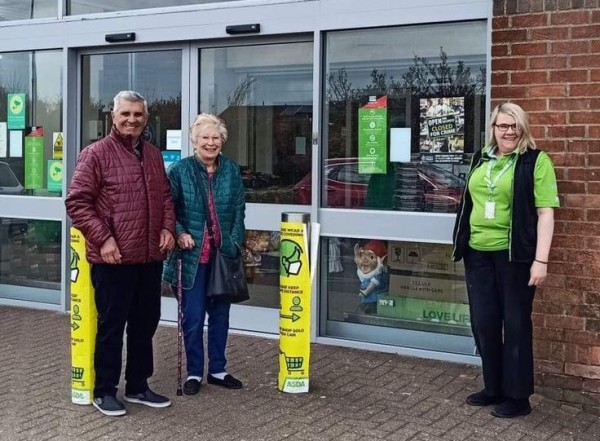"""Michelle Hawkins has been a """"lifeline"""" for elderly customers Fred and Ann at Asda Witham"""