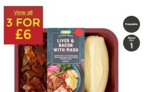 Allergen alert Liver, Bacon with Mash