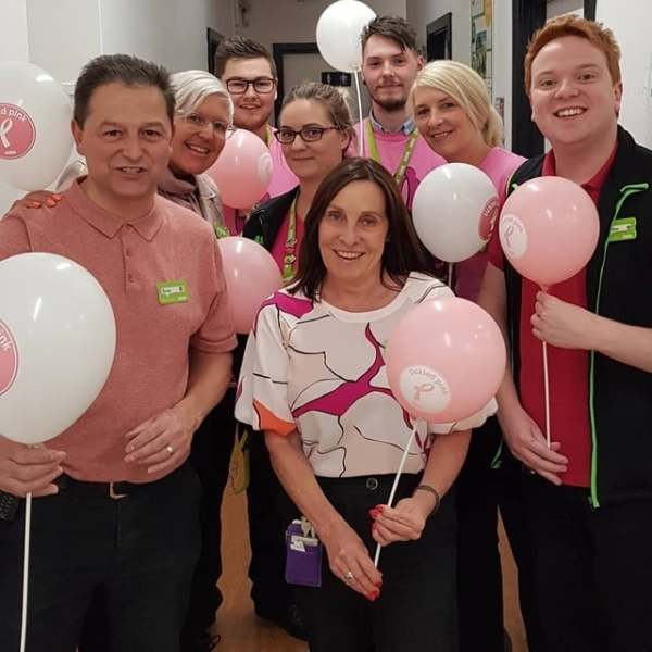 Colleagues at Asda Scunthorpe get behind Asda's Tickled Pink campaign