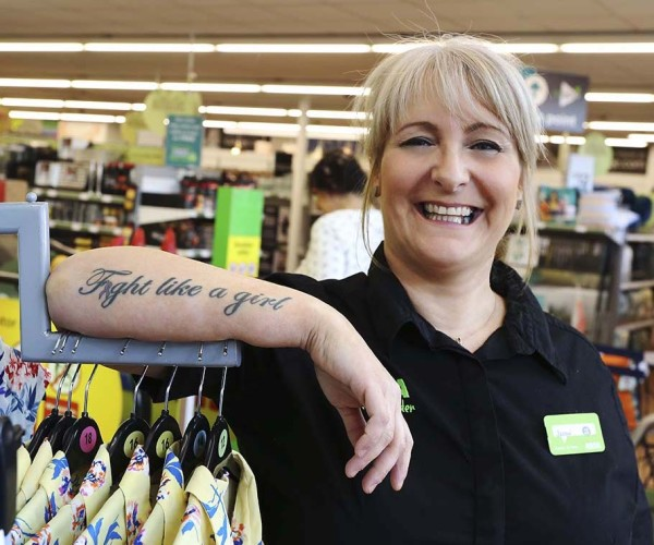 Asda Hull Living colleague Jacqui Johnson Tickled Pink