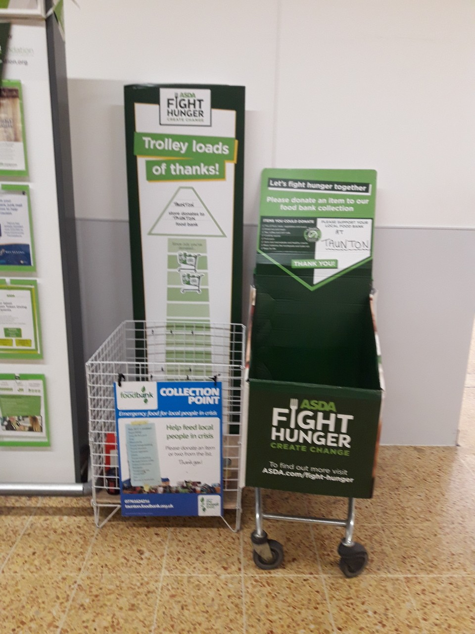 Fight Hunger up and running .2 trollies of food already picked up by our local food bank. | Asda Taunton