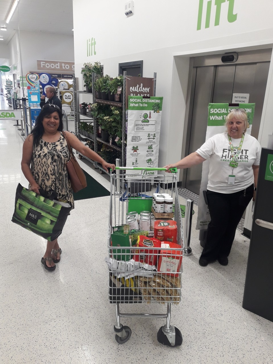 Food bank donation | Asda Thornaby
