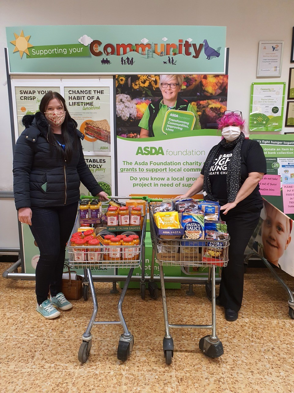 Enderby Mission Food Bank donation | Asda Leicester