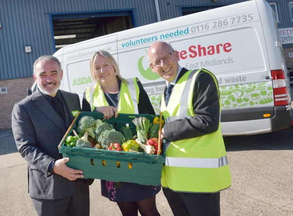 Asda chief customer officer Andy Murray at the new FareShare East Midlands depot