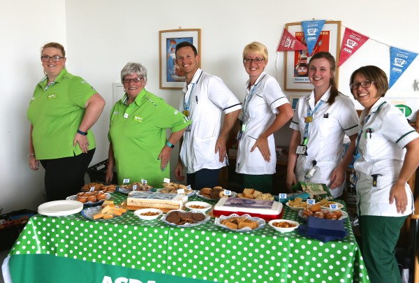 Asda helps the team at South Bristol Community Hospital celebrate the NHS's 70th anniversary