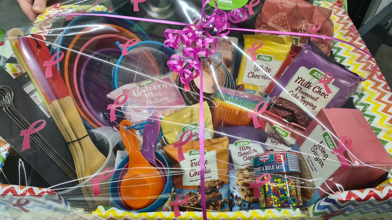 Baking hamper for WI Carers | Asda Newport Isle of Wight