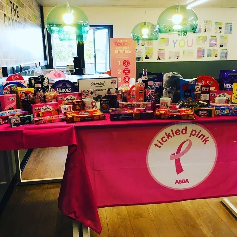 Tickled Pink Colleague Tombola  | Asda Lower Earley