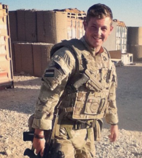 Asda colleague Sash Hill in the Army in Afghanistan