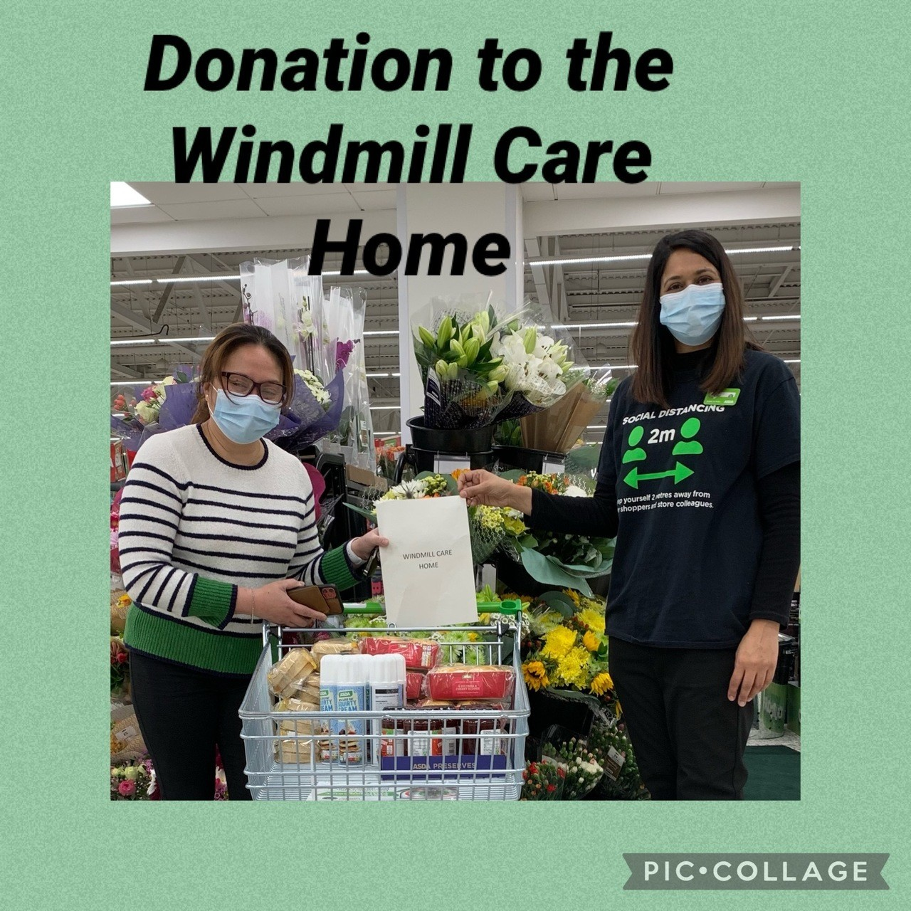 Donation to the Windmill Care Home | Asda Slough