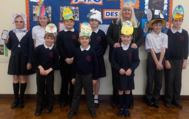 Asda South Woodham Ferrers community champion Lisa Kelly with pupils at Easter