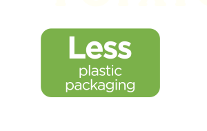 Less Plastic Packaging logo