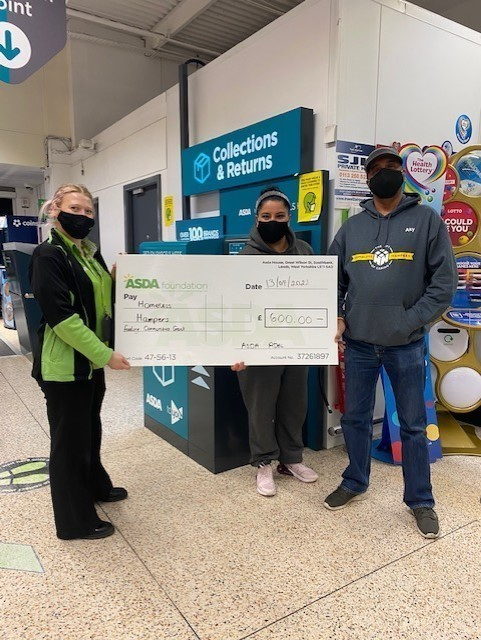 Feeding communities grants for Homeless Hampers | Asda Adel