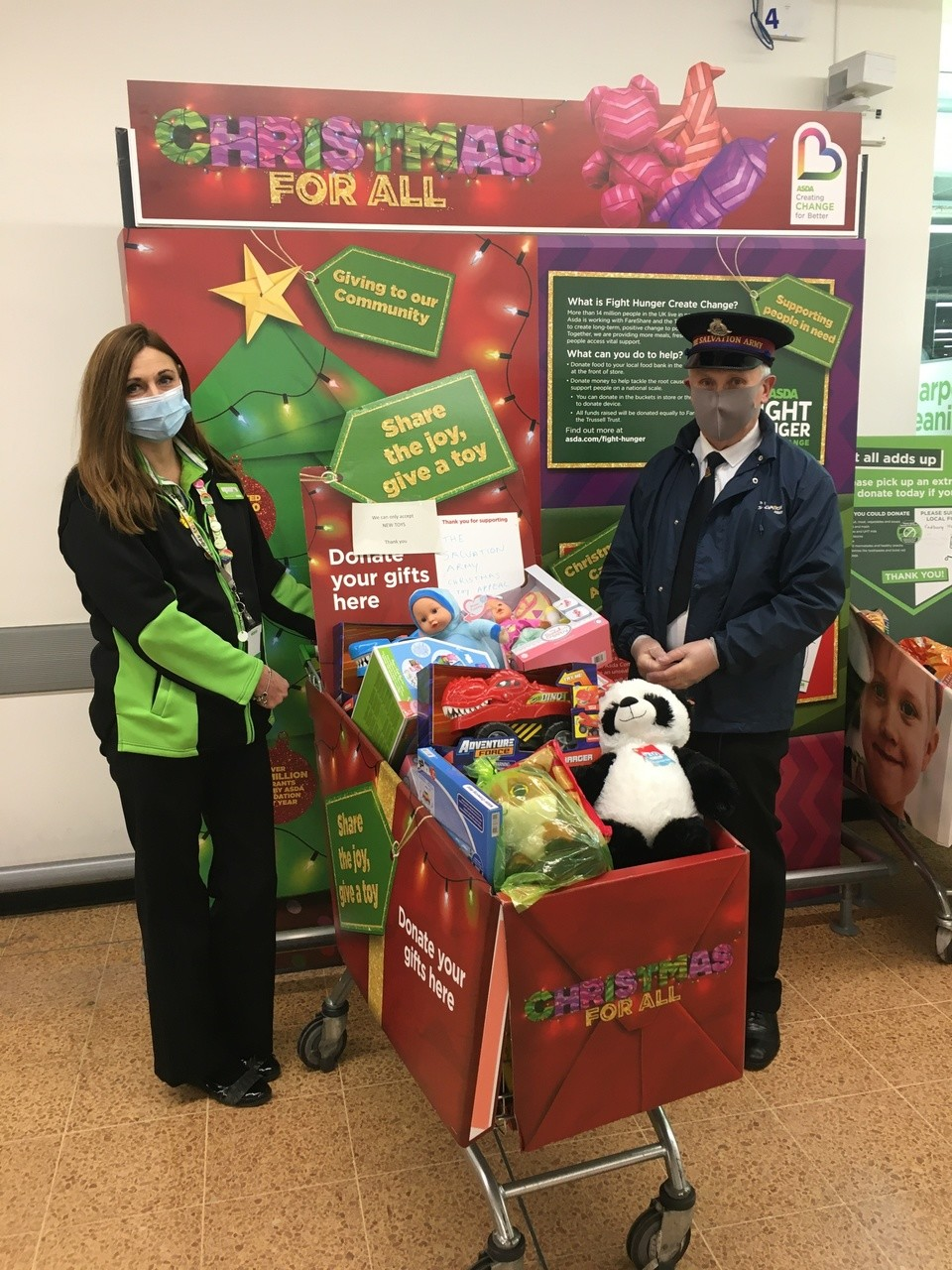 Salvation Army Christmas toy appeal  | Asda Longwell Green