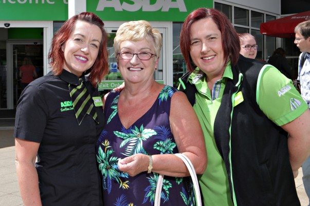Sheila Palmer from Asda Coleraine with her daughters Sam and Charlotte