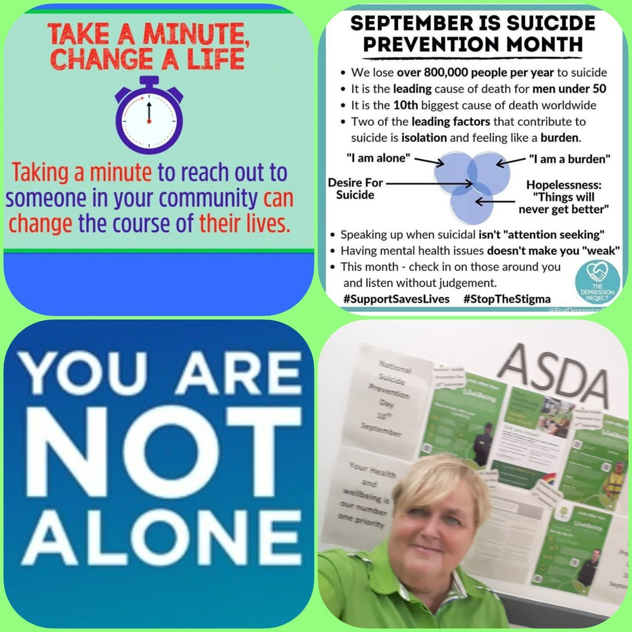 Supporting National Suicide Prevention Day | Asda Gosforth
