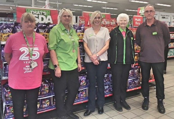 Pat Lister from Asda Goole rowing challenge for Tickled Pink