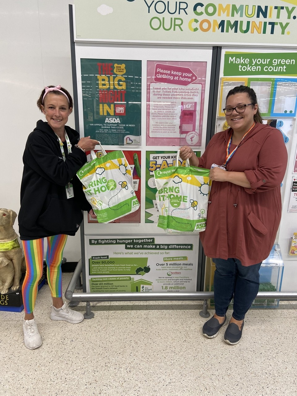 Asda Bigglewade Charity donation.  | Asda Biggleswade
