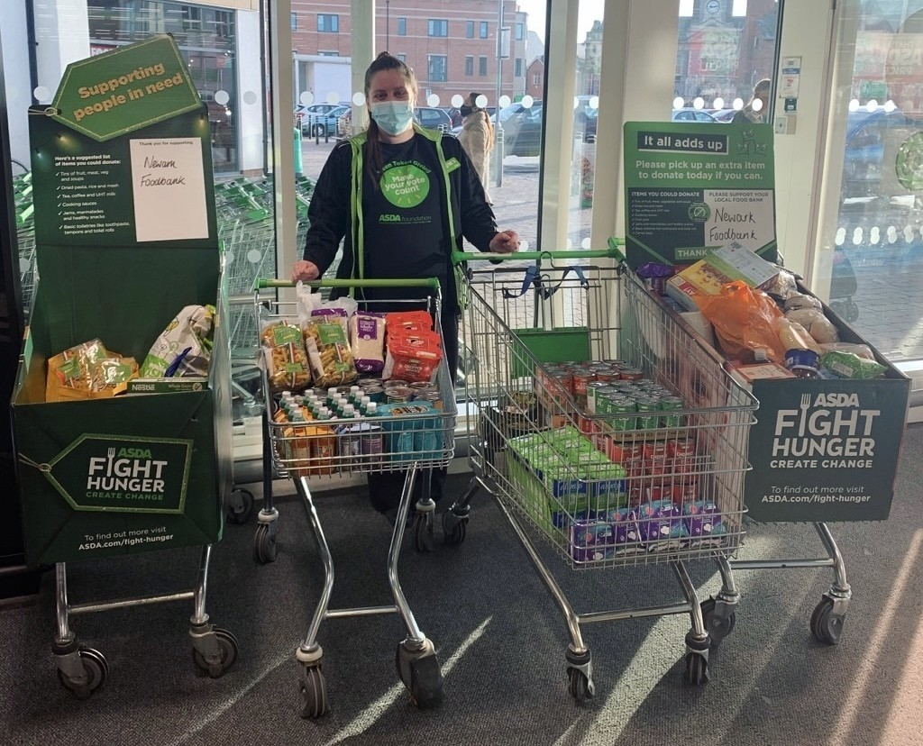 Donations to Newark Foodbank | Asda Newark