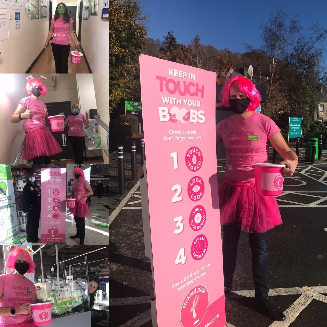 Tickled Pink support | Asda Pwllheli