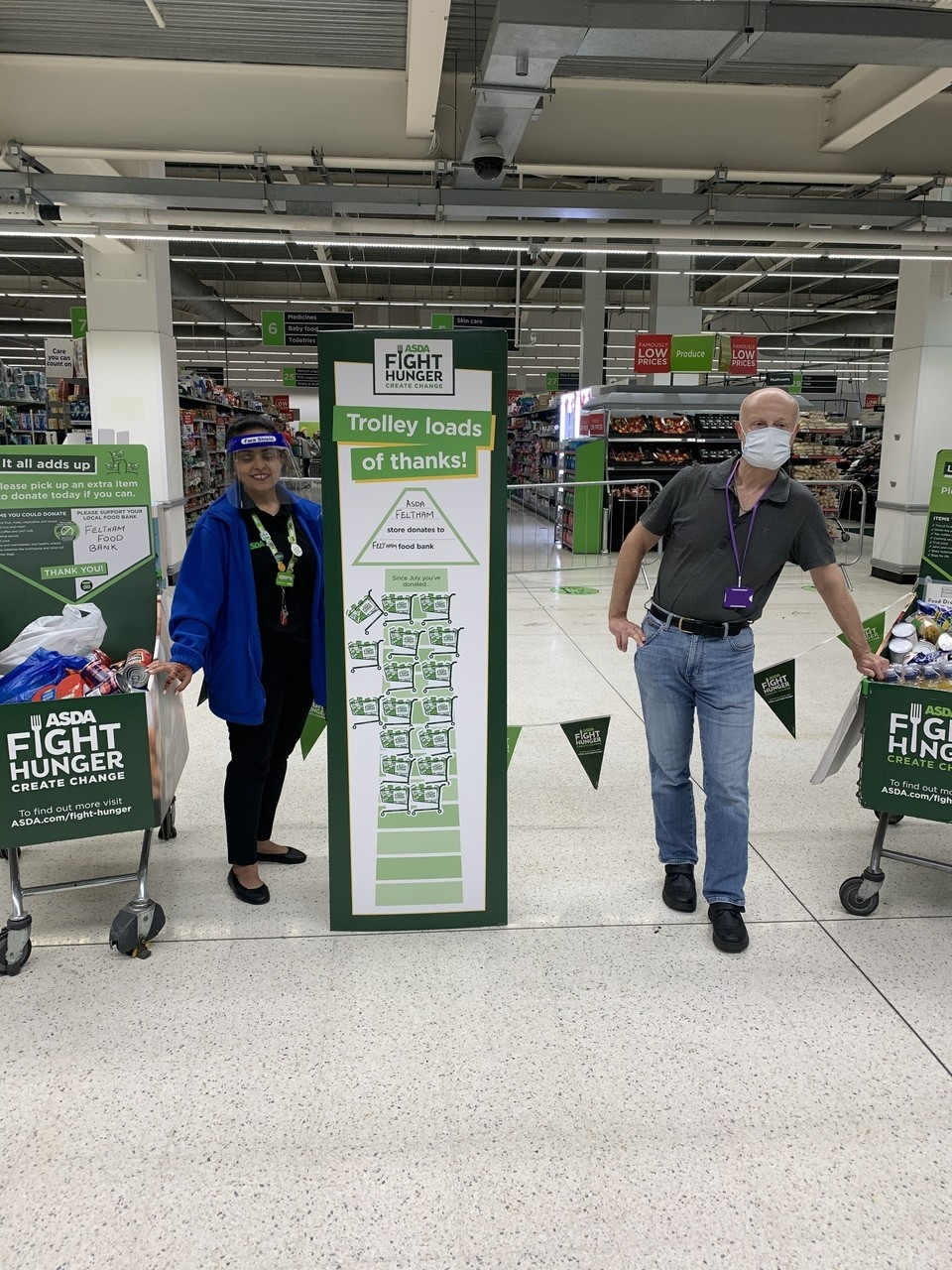 Thank you for supporting Asda Feltham's Fight Hunger appeal | Asda Feltham