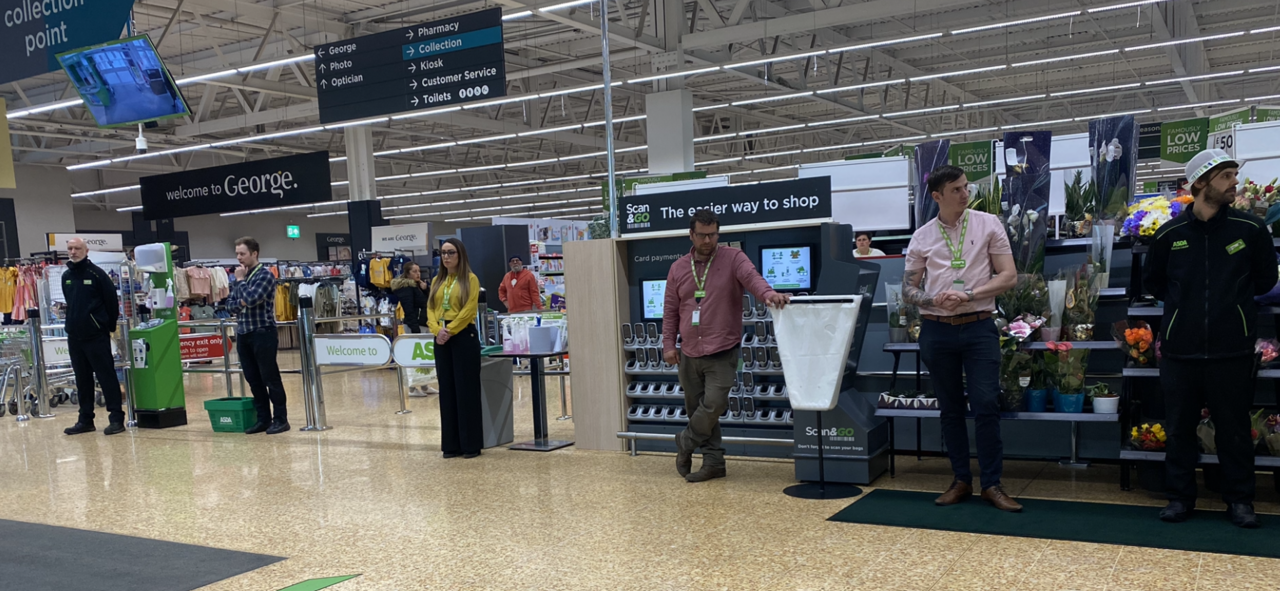 NHS minute's silence in Gloucester  | Asda Gloucester