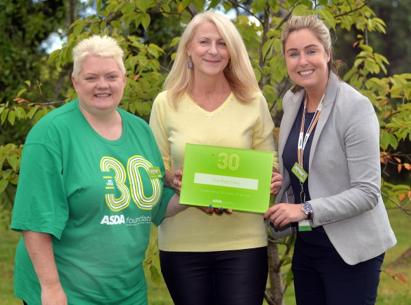 Elaine Livingstone from Asda Portadown visits social enterprise The Right Key to celebrate the Asda Foundation's 30th anniversary