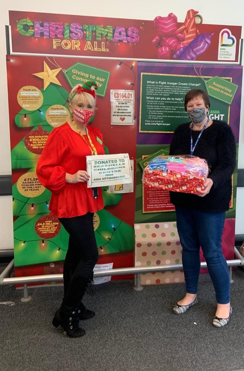 Seashells Children's Centre Christmas Donation | Asda Sittingbourne