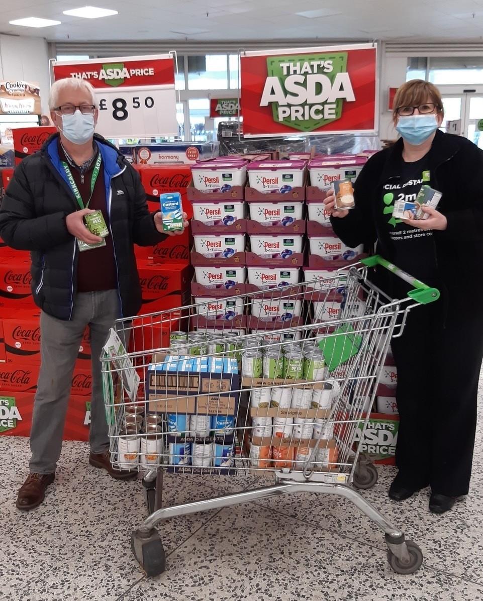 Kirkcaldy Foodbank donations   Asda Kirkcaldy