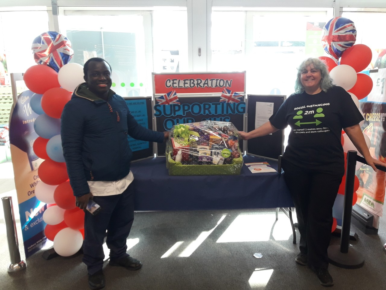 Donation of NHS goodie hamper   Asda Leicester