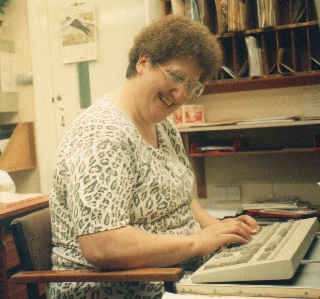 Asda Wheatley community champion Angie Young nursing during the 1980s