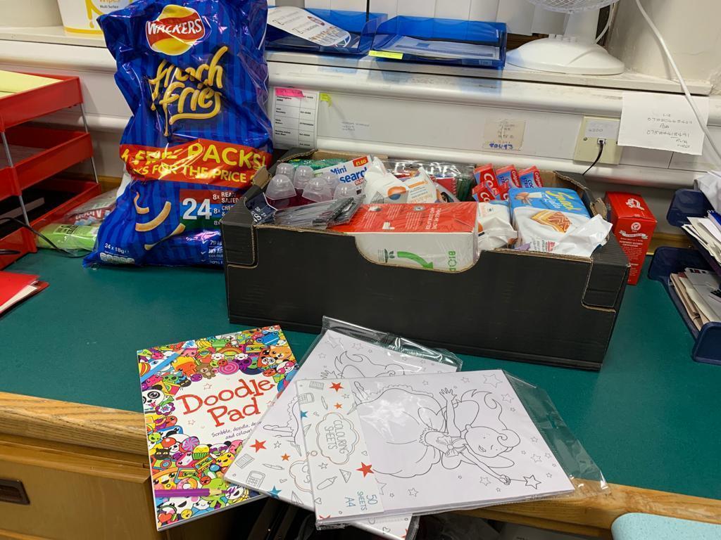 Donation to staff at North Manchester General Hospital | Asda Shaw