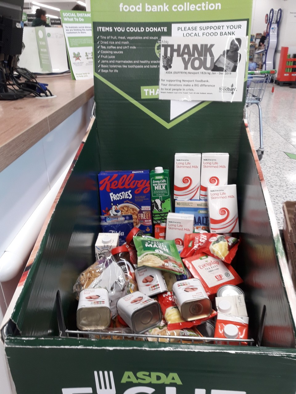 Newport Foodbank support | Asda Newport