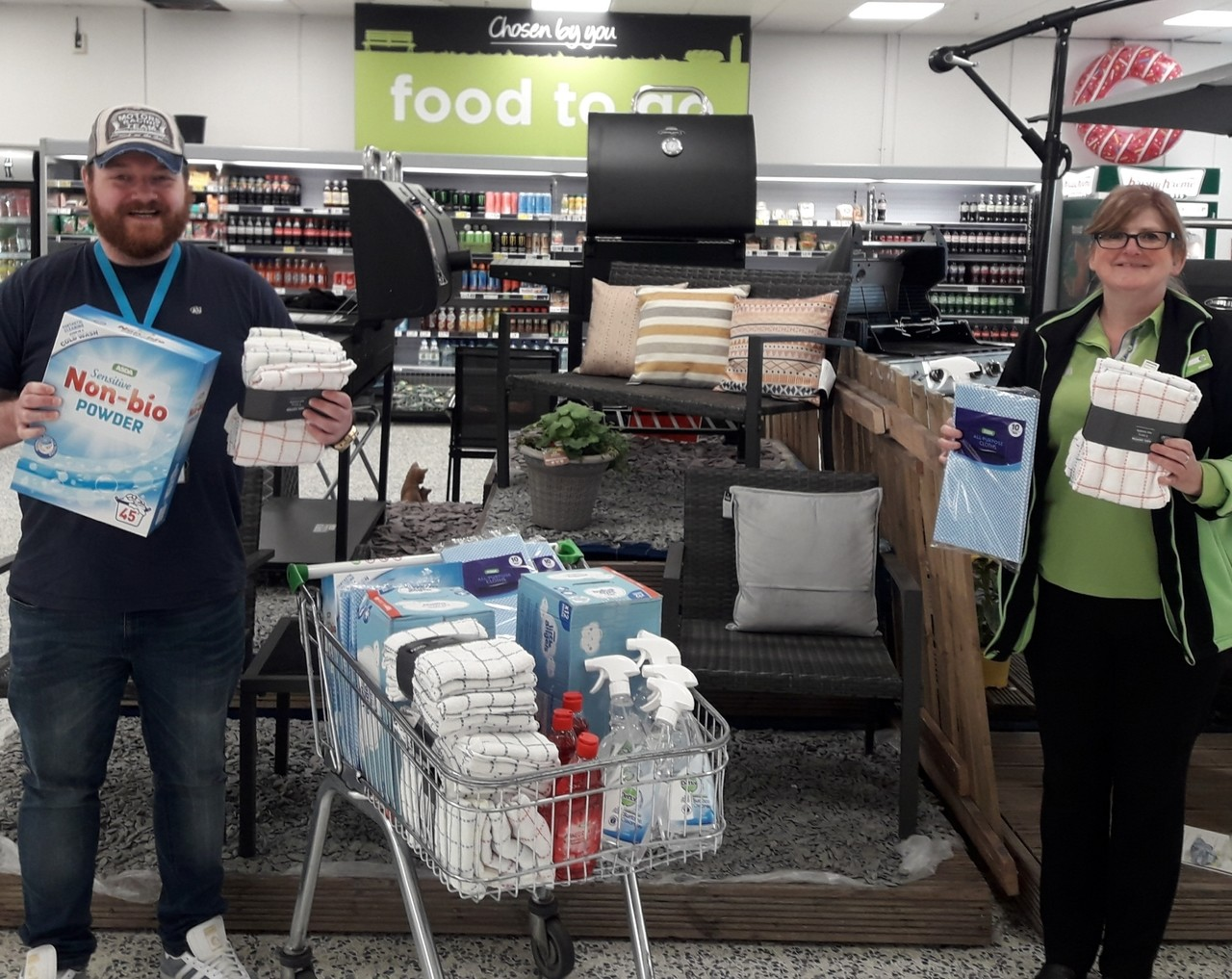 Time for donations   Asda Kirkcaldy