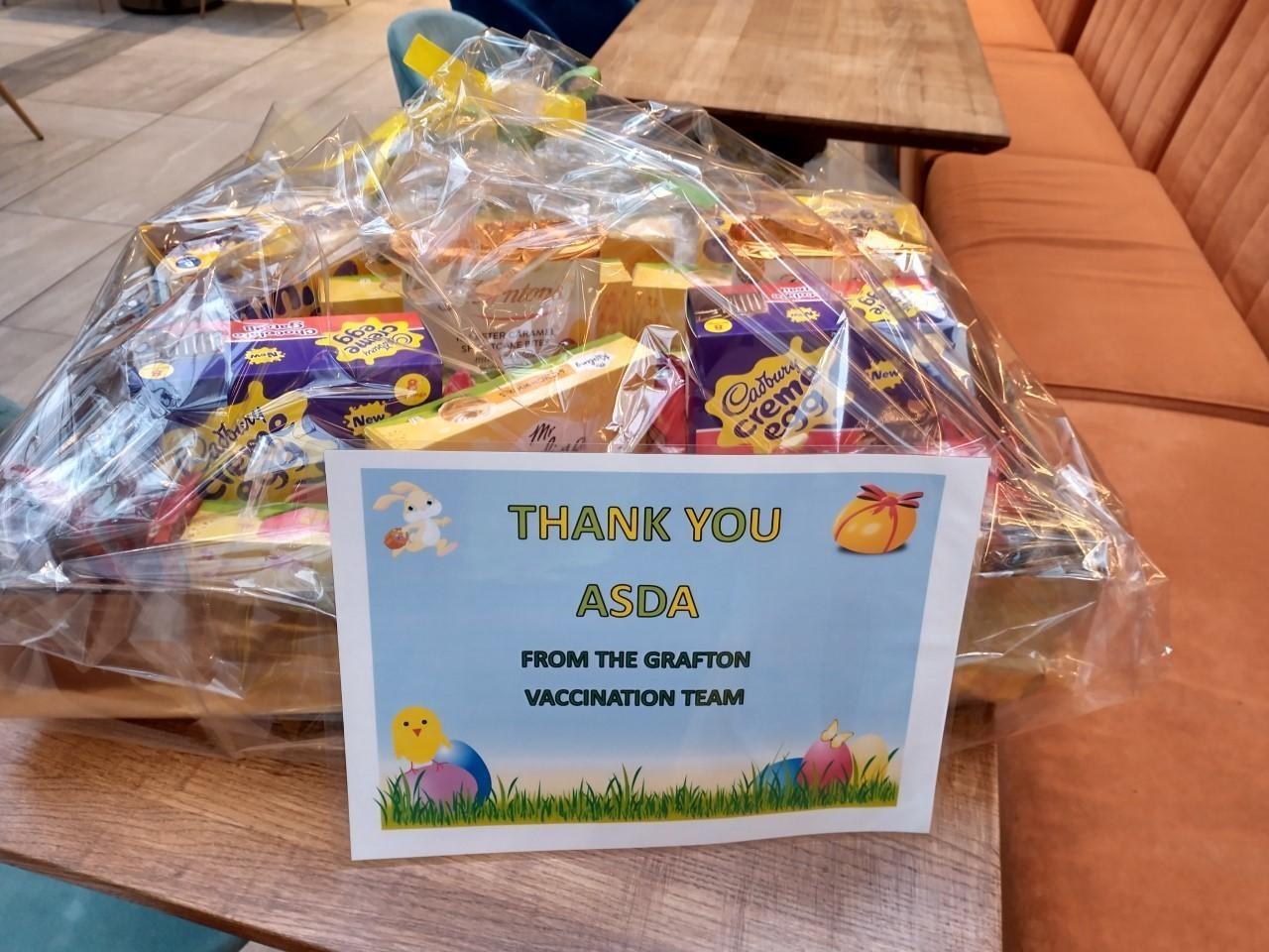 Royal Volunteer Service Easter treats donation | Asda Cambridge