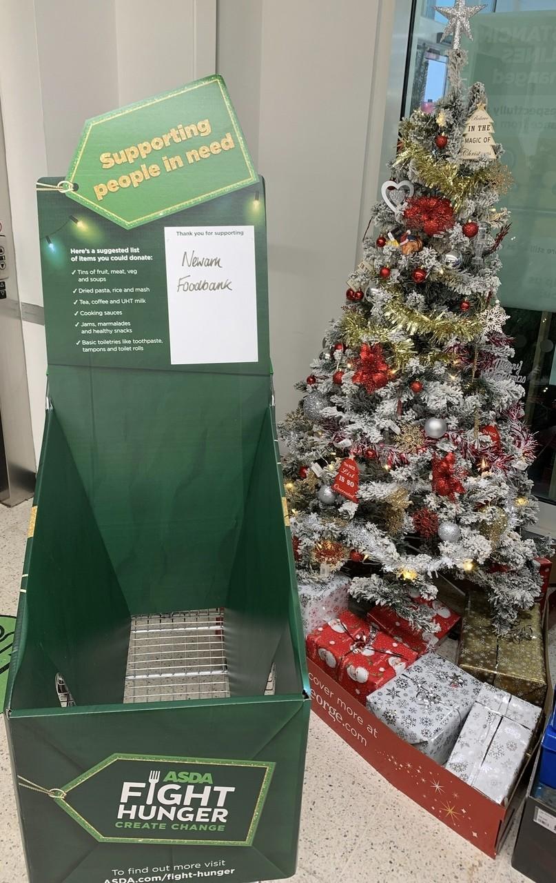 Foodbank Christmas trolley support | Asda Newark