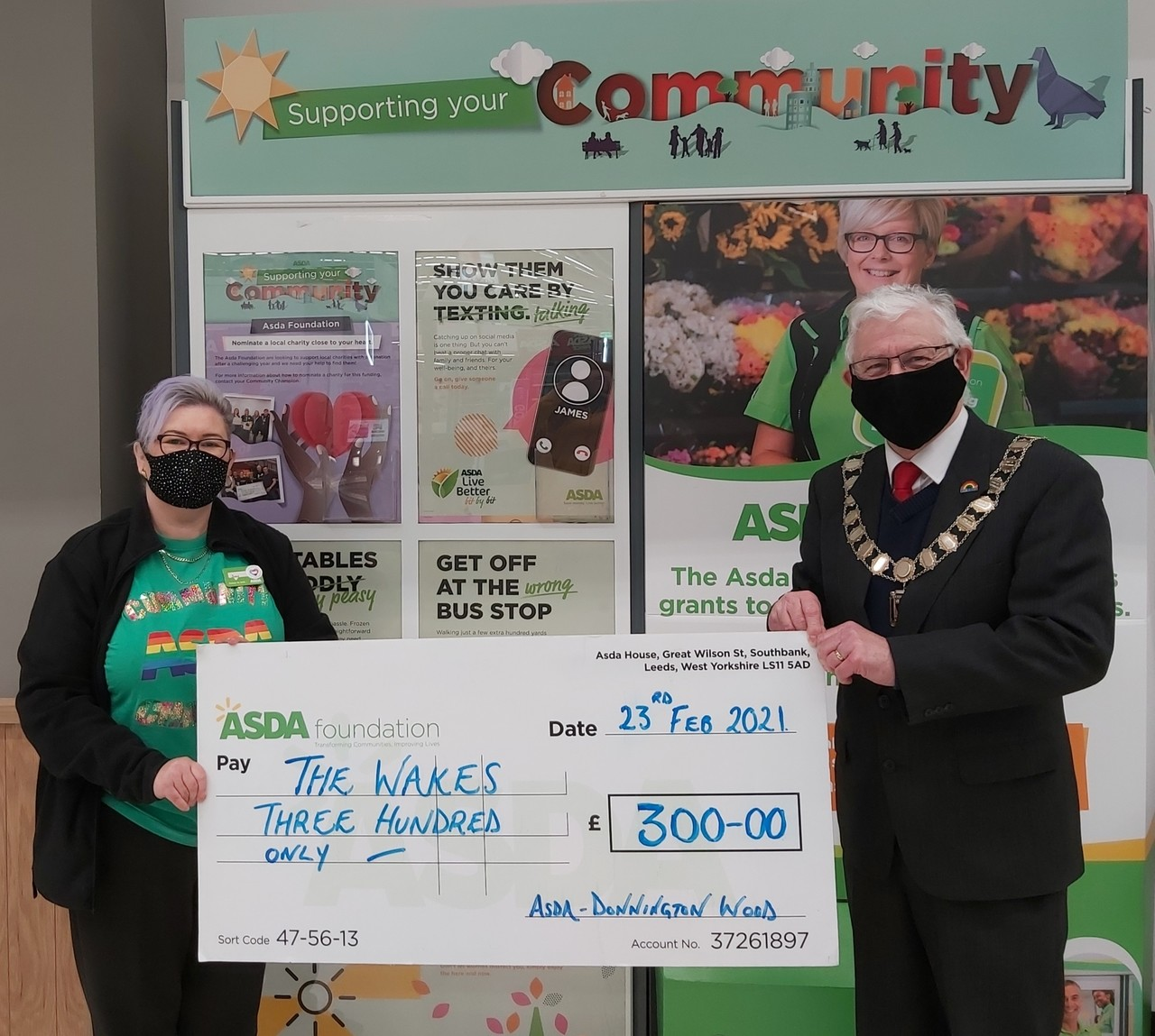 £300 for Wakes Community Centre | Asda Donnington Wood
