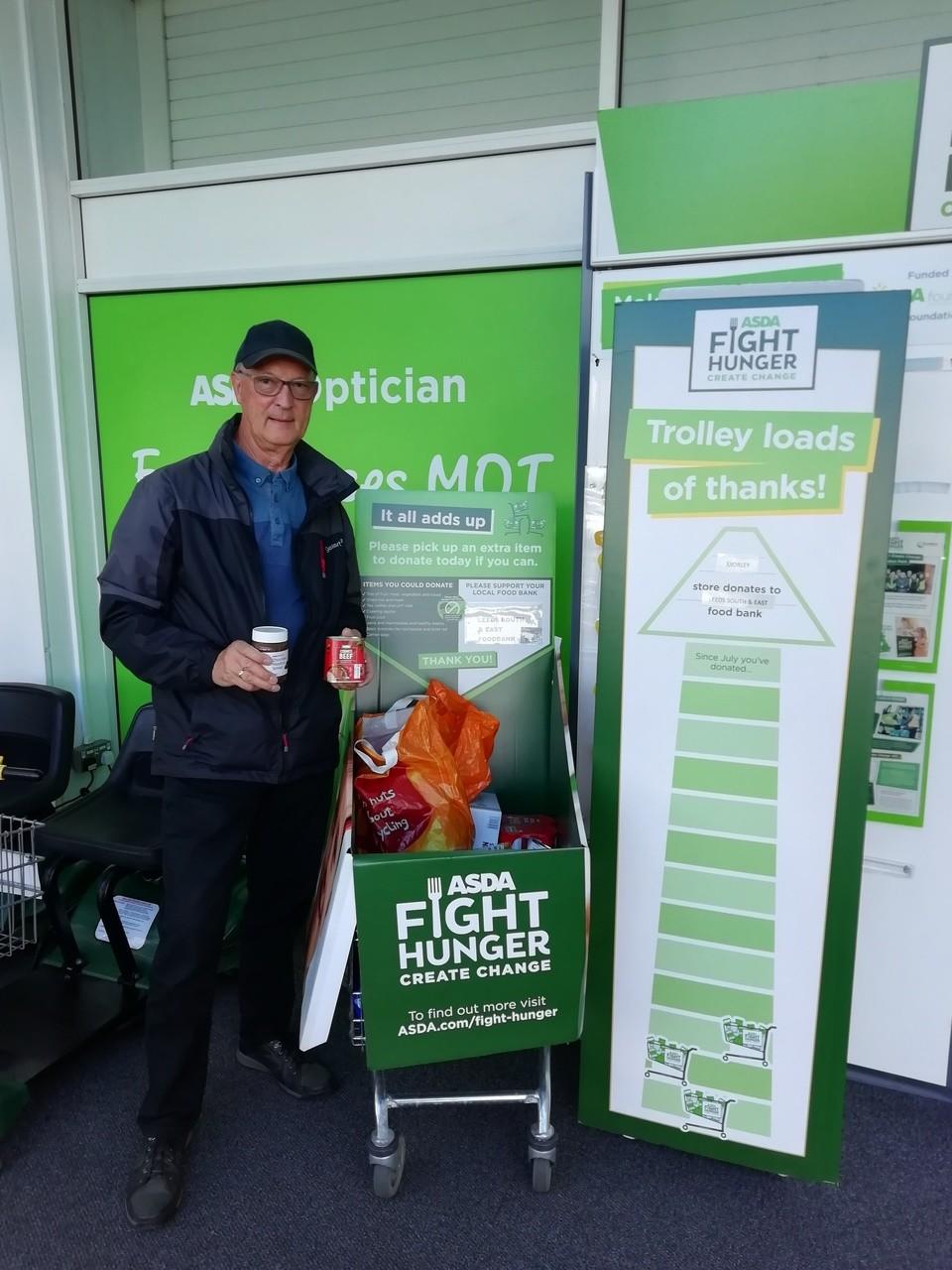 Customer donates to food bank each week | Asda Morley