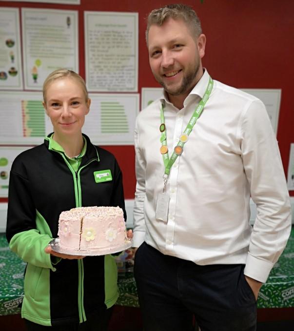 Asda Kingsthorpe colleagues Becky Jobber and Gareth Wortley