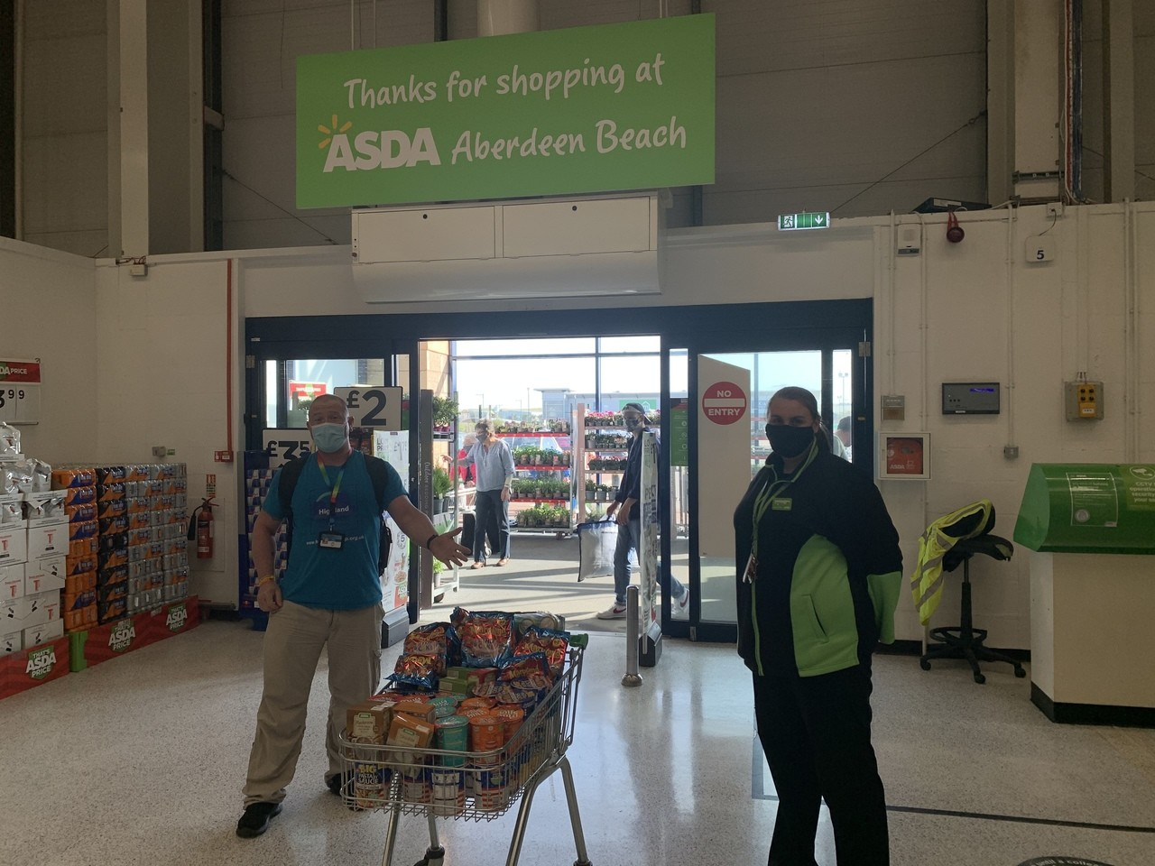 Donation to Street Friends | Asda Aberdeen Beach