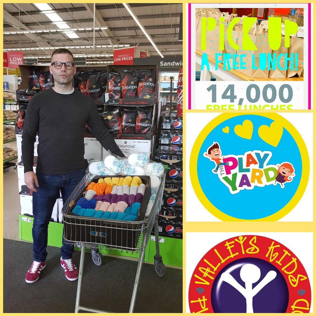 Play Yard and Valleys Kids donation | Asda Tonypandy