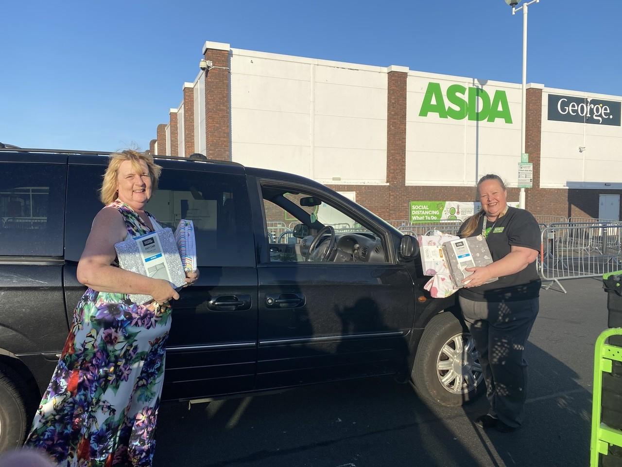 Donation to Team Scrubbers | Asda Gosport