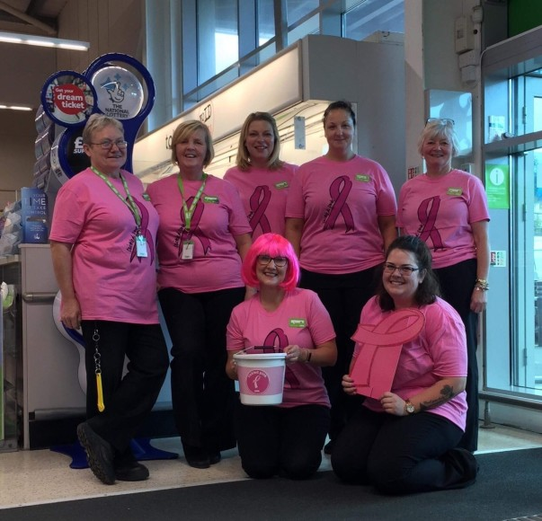 Asda Pwllheli colleagues Tickled Pink