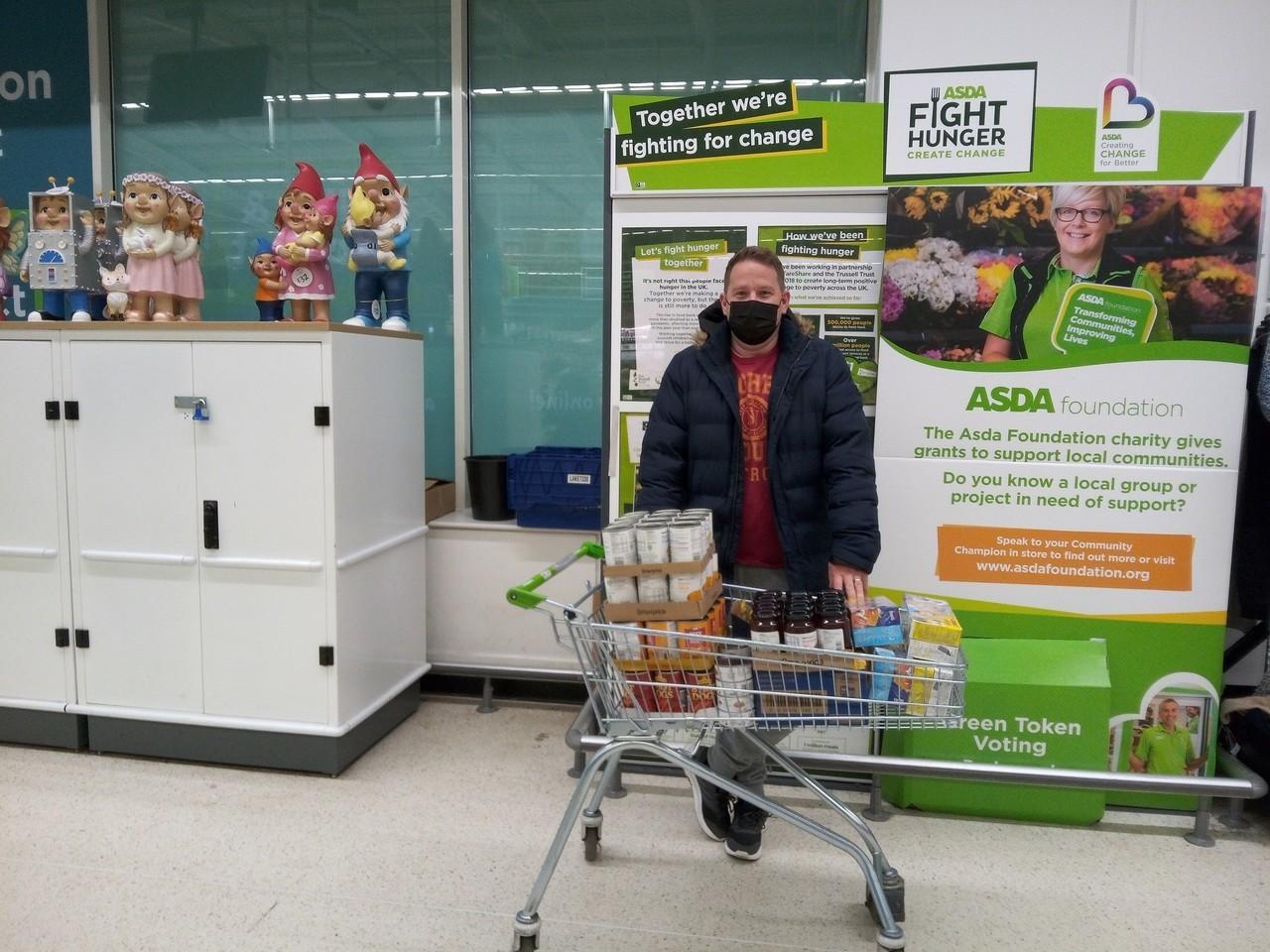 Foodbank donation   Asda Radcliffe