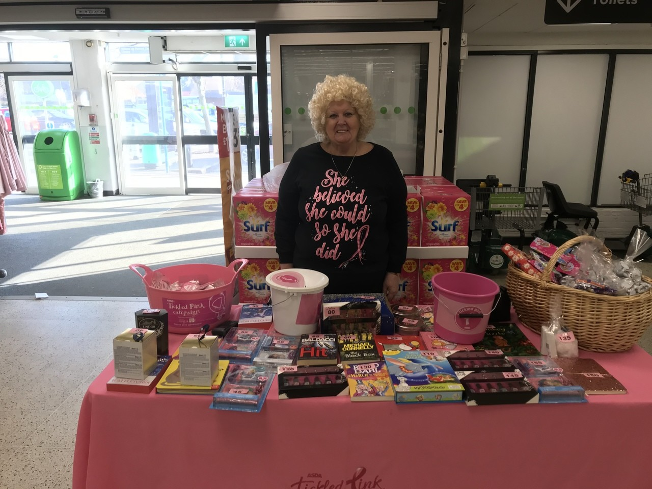 Tickled Pink fundraising | Asda South Woodham Ferrers