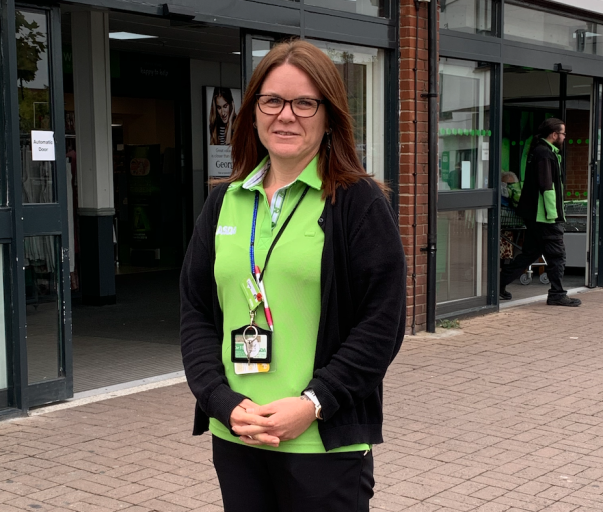 Laura Burton from Asda South Woodham Ferrers is training to run the London Marathon